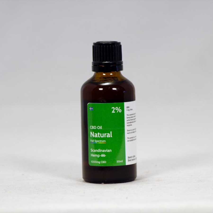 2% CBD Oil Natural 50 ml
