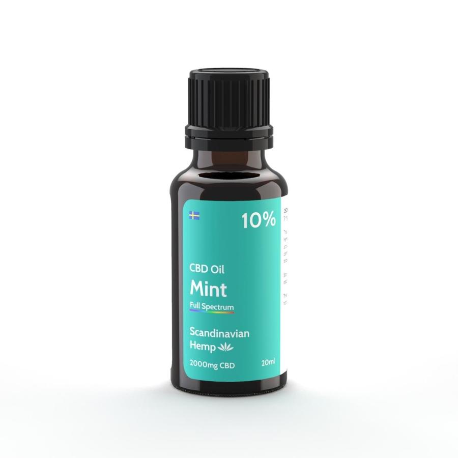 10% Huile de CBD Menthe 20 ml