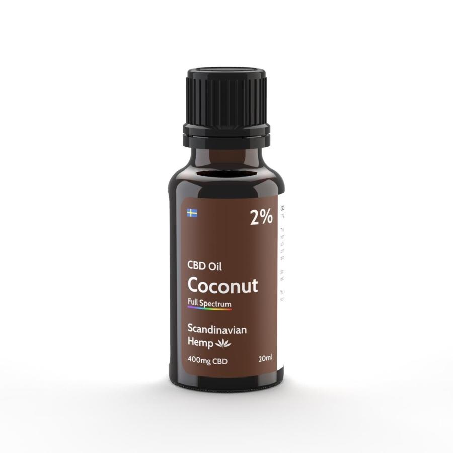 2% Huile de CBD Noix de coco 20 ml
