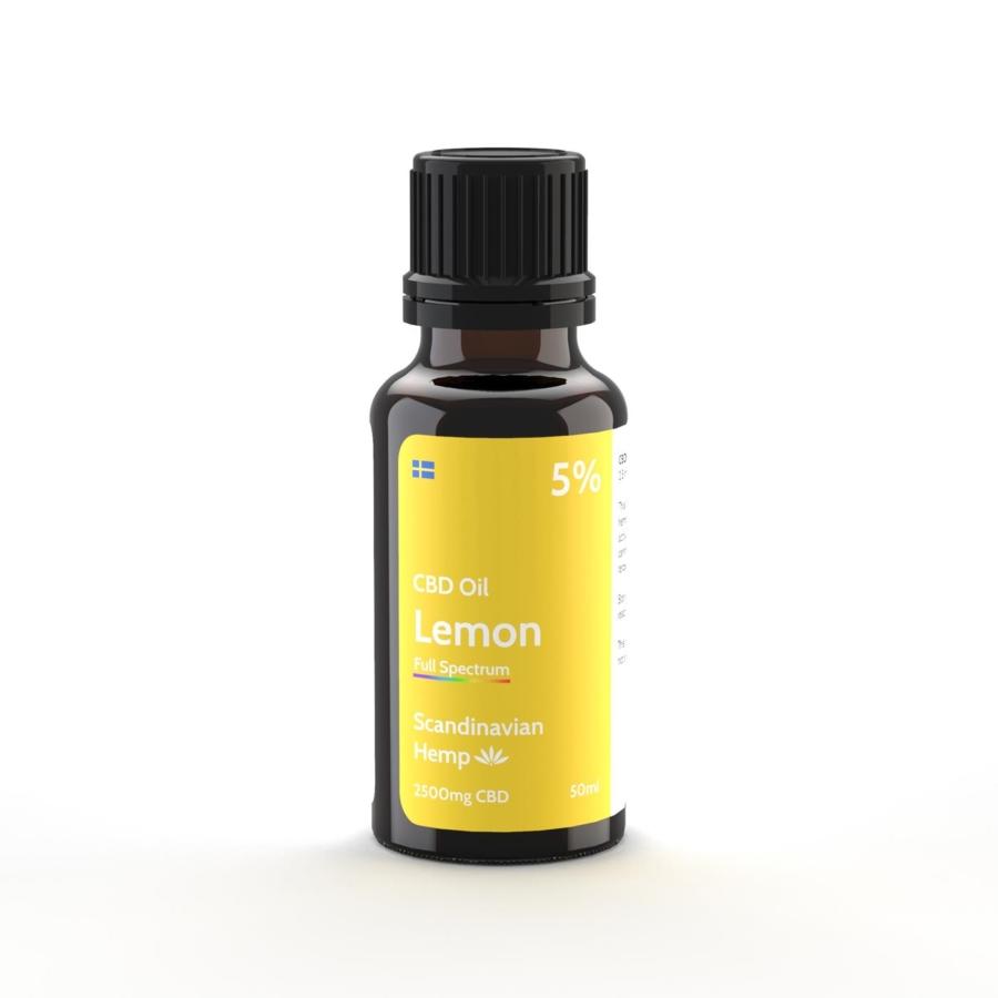 5% Huile de CBD Citron 20 ml