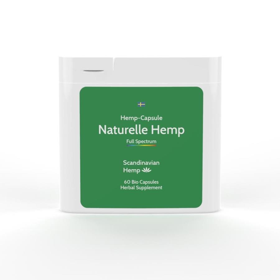 Naturelle Hemp (capsules de CBD), boîte de 60 capsules